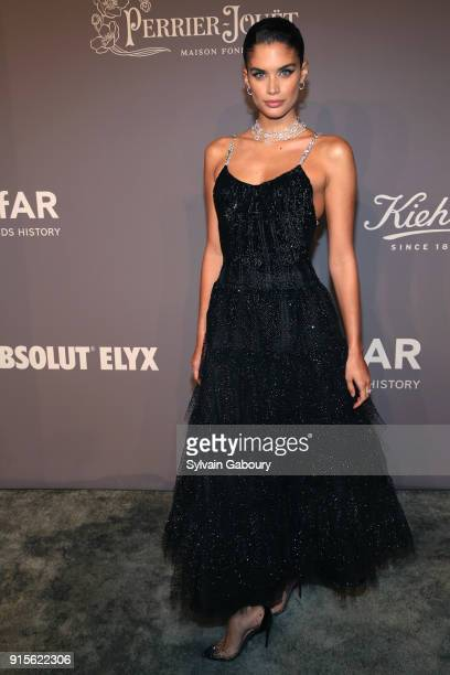 Sara Sampaio attends 2018 amfAR Gala New York Arrivals at Cipriani Wall Street on February 7 2018 in New York City