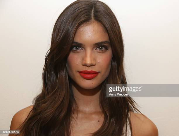 Sara Sampaio attends as Charlotte Tilbury and Bergdorf Goodman celebrate the Limited Edition Charlotte Tilbury x Norman Parkinson Collaboration at...