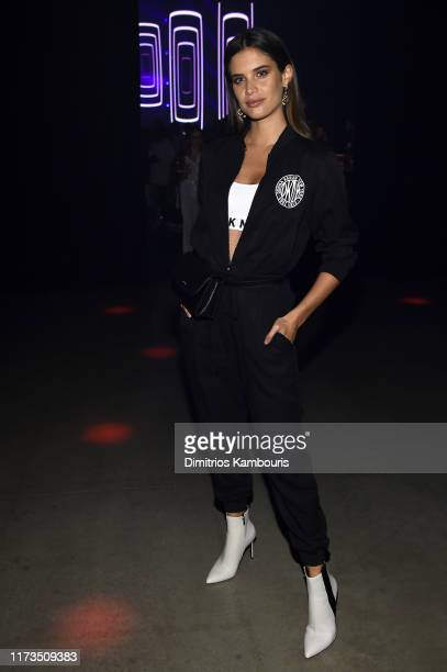 Sara Sampaio attends as DKNY turns 30 with special live performances by Halsey and The Martinez Brothers at St Ann's Warehouse on September 09 2019...