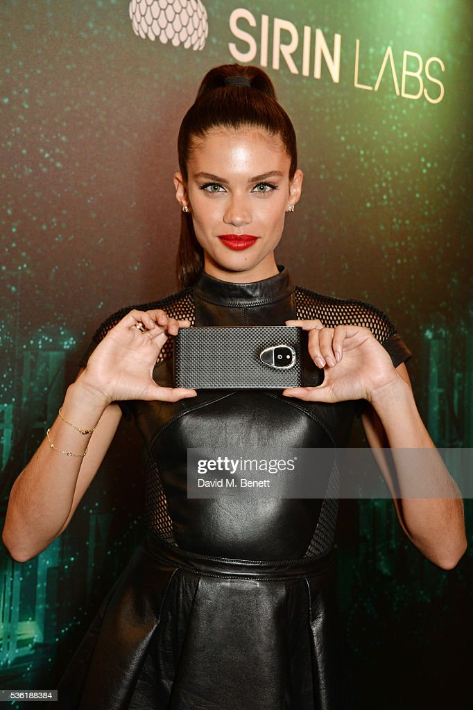 Sara Sampaio attends as SIRIN LABS Launches SOLARIN at One Marylebone on May 31, 2016 in London, England.