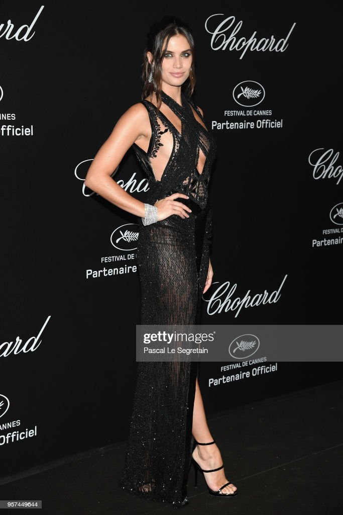 Sara Sampaio attends Chopard Secret Night during the 71st annual Cannes Film Festival at Chateau de la Croix des Gardes on May 11, 2018 in Cannes, France.