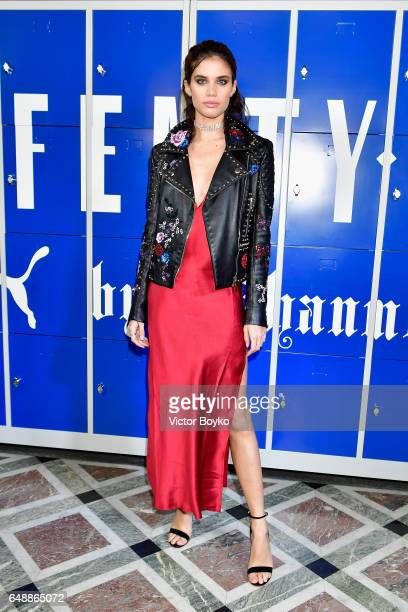 Sara Sampaio attends FENTY PUMA by Rihanna Fall / Winter 2017 Collection at Bibliotheque Nationale de France on March 6 2017 in Paris France