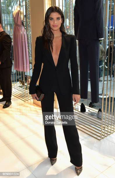 Sara Sampaio attends Giorgio Armani's celebration of 'The Shape of Water' hosted by Roberta Armani on March 3 2018 in Beverly Hills California