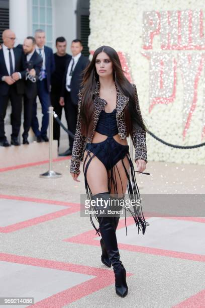 Sara Sampaio attends Philipp Plein 'Dynasty' Women's Men's Resort 2019 Fashion Show during the 71st annual Cannes Film Festival on May 16 2018 in...