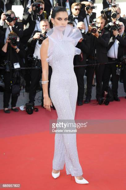 Sara Sampaio attends the 120 Beats Per Minute screening during the 70th annual Cannes Film Festival at Palais des Festivals on May 20 2017 in Cannes...