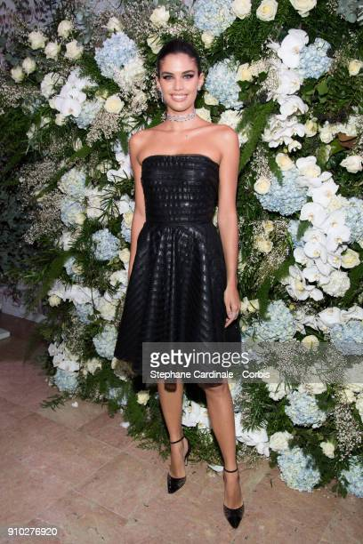Sara Sampaio attends the 16th Sidaction as part of Paris Fashion Week on January 25 2018 in Paris France