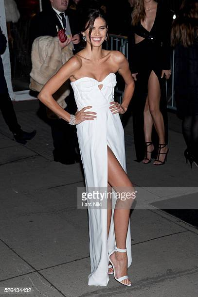 Sara Sampaio attends the '2016 amfAR' New York Gala outside arrivals at Cipriani Wall Street in New York City �� LAN