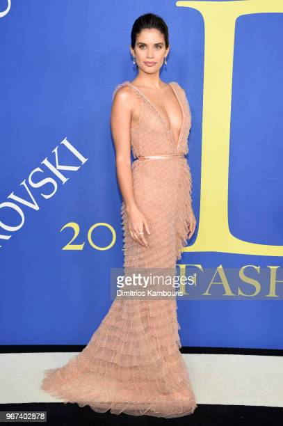 Sara Sampaio attends the 2018 CFDA Fashion Awards at Brooklyn Museum on June 4 2018 in New York City