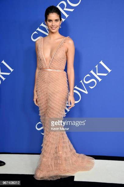 Sara Sampaio attends the 2018 CFDA Fashion Awards at Brooklyn Museum on June 4, 2018 in New York City.