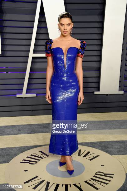 Sara Sampaio attends the 2019 Vanity Fair Oscar Party hosted by Radhika Jones at Wallis Annenberg Center for the Performing Arts on February 24 2019...