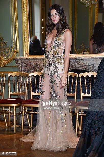 Sara Sampaio attends the Alberta Ferreti Haute Couture Fall/Winter 20162017 show as part of Paris Fashion Week on July 3 2016 in Paris France