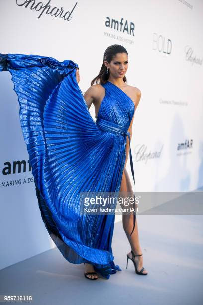 Sara Sampaio attends the cocktail at the amfAR Gala Cannes 2018 at Hotel du CapEdenRoc on May 17 2018 in Cap d'Antibes France