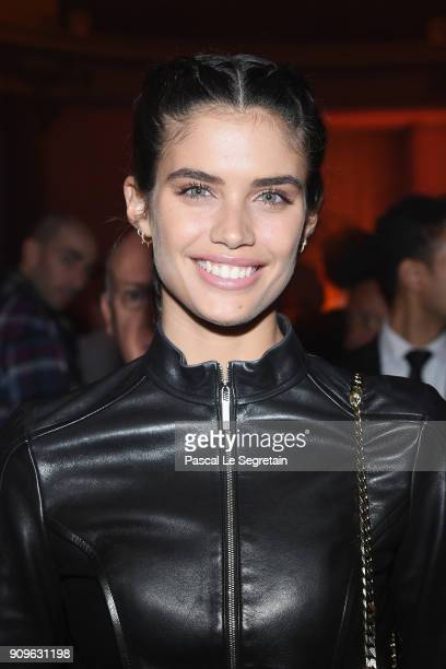 Sara Sampaio attends the Elie Saab Haute Couture Spring Summer 2018 show as part of Paris Fashion Week on January 24, 2018 in Paris, France.