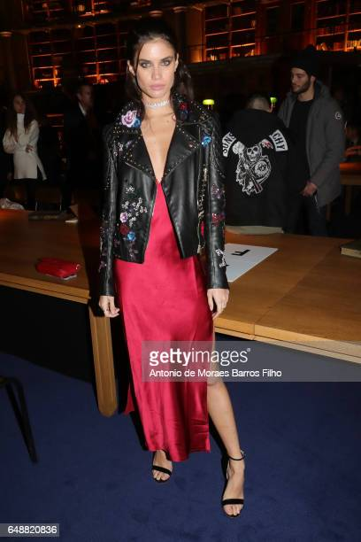 Sara Sampaio attends the FENTY PUMA by Rihanna show as part of the Paris Fashion Week Womenswear Fall/Winter 2017/2018 on March 6 2017 in Paris France