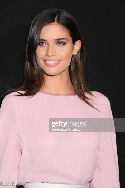 Sara Sampaio attends the Giorgio Armani Prive Haute Couture Spring Summer 2018 show as part of Paris Fashion Week on January 23 2018 in Paris France