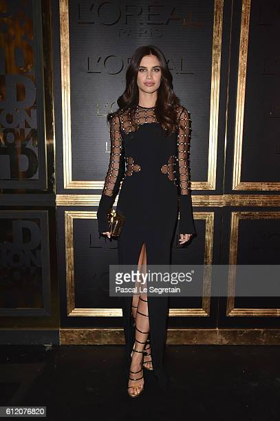 Sara Sampaio attends the Gold Obsession Party L'Oreal Paris Photocall as part of the Paris Fashion Week Womenswear Spring/Summer 2017 on October 2...