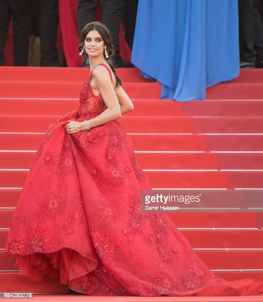 Sara Sampaio attends the 'Ismael's Ghosts ' screening and Opening Gala during the 70th annual Cannes Film Festival at Palais des Festivals on May 17...