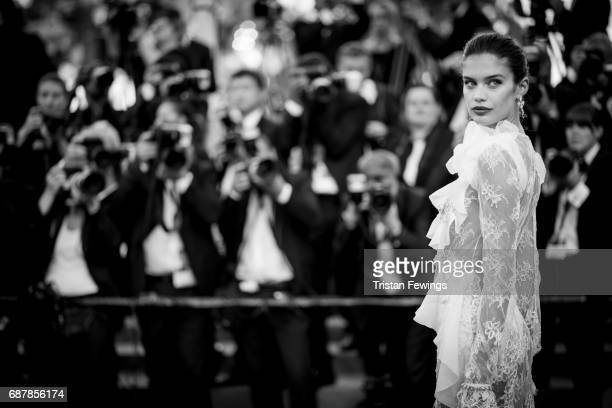 Sara Sampaio attends 'The Killing Of A Sacred Deer' premiere during the 70th annual Cannes Film Festival at Palais des Festivals on May 22 2017 in...