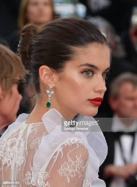 Sara Sampaio attends 'The Killing Of A Sacred Deer' screening during the 70th annual Cannes Film Festival at Palais des Festivals on May 22 2017 in...