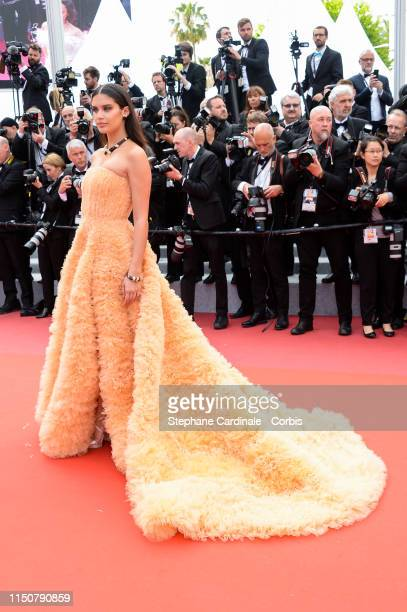 """Sara Sampaio attends the screening of """"Once Upon A Time In Hollywood"""" during the 72nd annual Cannes Film Festival on May 21, 2019 in Cannes, France."""