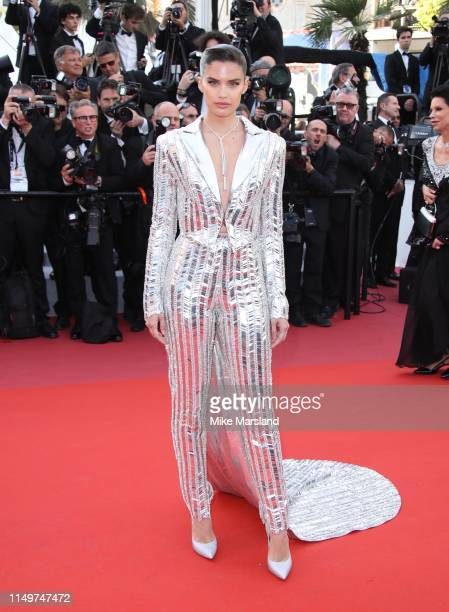 "Sara Sampaio attends the screening of ""Rocketman"" during the 72nd annual Cannes Film Festival on May 16, 2019 in Cannes, France."