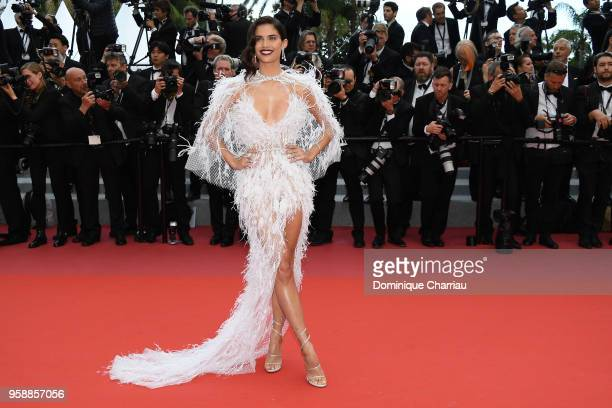 Sara Sampaio attends the screening of 'Solo A Star Wars Story' during the 71st annual Cannes Film Festival at Palais des Festivals on May 15 2018 in...