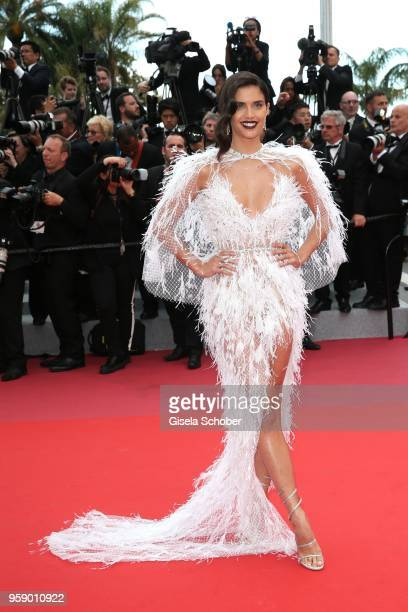 Sara Sampaio attends the screening of Solo A Star Wars Story during the 71st annual Cannes Film Festival at Palais des Festivals on May 15 2018 in...