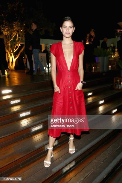 Sara Sampaio attends the Taste of sbe Grand Dinner at Skybar at Mondrian Los Angeles with Rolling Stone to benefit Make A Wish on October 20 2018 in...