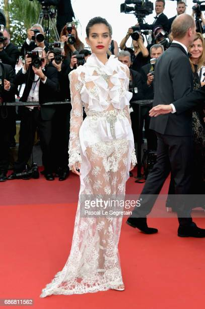 Sara Sampaio attends the The Killing Of A Sacred Deer screening during the 70th annual Cannes Film Festival at Palais des Festivals on May 22 2017 in...