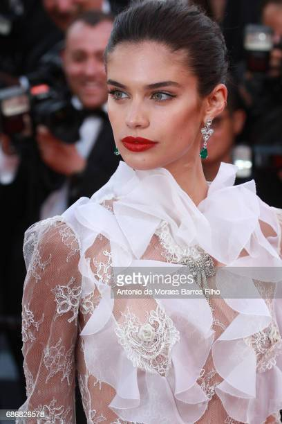 Sara Sampaio attends the 'The Killing Of A Sacred Deer' screening during the 70th annual Cannes Film Festival at Palais des Festivals on May 22 2017...