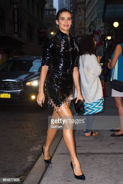 Sara Sampaio attends the US book launch of 'Backstage Secrets by Russell James' at the Alley Cat in the Financial District on May 31 2018 in New York...