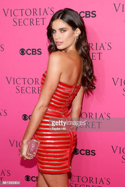 Sara Sampaio attends the Victoria's Secret Viewing Party Pink Carpet celebrating the 2017 Victoria's Secret Fashion Show in Shanghai at Spring...