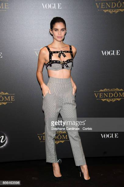 Sara Sampaio attends Vogue Party as part of the Paris Fashion Week Womenswear Spring/Summer 2018 at on October 1 2017 in Paris France