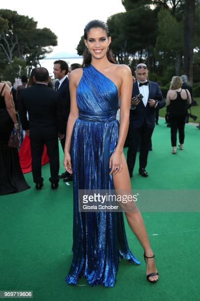Sara Sampaio during the cocktail at the amfAR Gala Cannes 2018 at Hotel du CapEdenRoc on May 17 2018 in Cap d'Antibes France