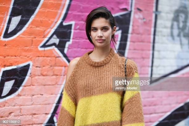 Sara Sampaio during the New York Fashion Week on September 11 2017 in New York