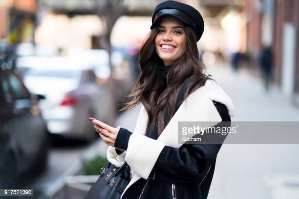 Sara Sampaio is seen in Chelsea on February 12 2018 in New York City