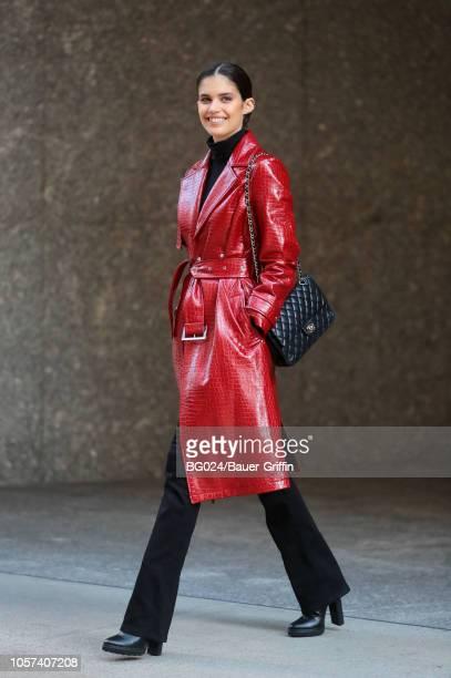 Sara Sampaio is seen on November 04 2018 in New York City
