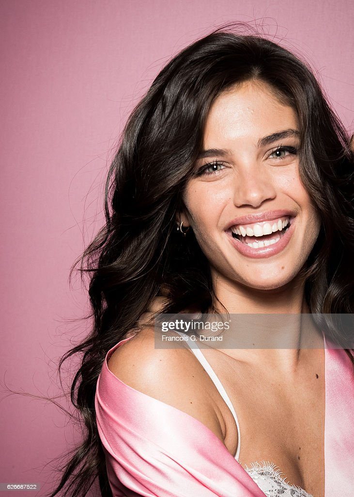 Sara Sampaio poses backstage prior the 2016 Victoria's Secret Fashion Show on November 30, 2016 in Paris, France.