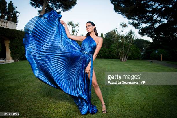 Sara Sampaio poses for portraits at the amfAR Gala Cannes 2018 cocktail at Hotel du CapEdenRoc on May 17 2018 in Cap d'Antibes France