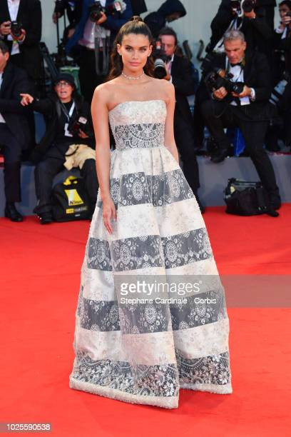 Sara Sampaio walks the red carpet ahead of the 'A Star Is Born' screening during the 75th Venice Film Festival at Sala Grande on August 31 2018 in...