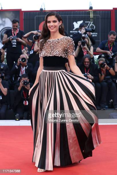 Sara Sampaio walks the red carpet ahead of the Joker screening during the 76th Venice Film Festival at Sala Grande on August 31 2019 in Venice Italy