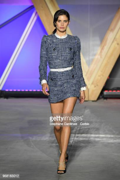Sara Sampaio walks the runway at Fashion For Relief Cannes 2018 during the 71st annual Cannes Film Festival at Aeroport Cannes Mandelieu on May 13...