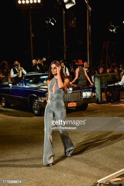 Sara Sampaio walks the runway at the Tommy X Zendaya runway show at The Apollo Theater on September 08 2019 in New York City