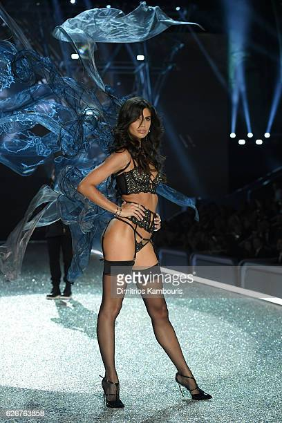 Sara Sampaio walks the runway during the 2016 Victoria's Secret Fashion Show on November 30 2016 in Paris France