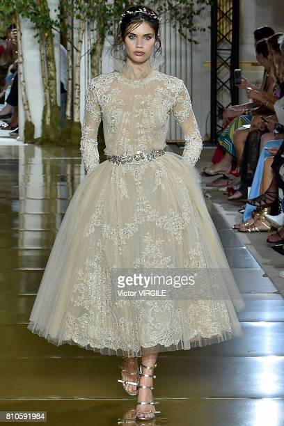 Sara Sampaio walks the runway during the Zuhair Murad Haute Couture Fall/Winter 20172018 show as part of Haute Couture Paris Fashion Week on July 5...