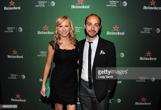 Sara Sanderson and Alexander Berman attend the Heineken Cocktails and Viewing at Tribeca Grand Hotel on April 23 2014 in New York City