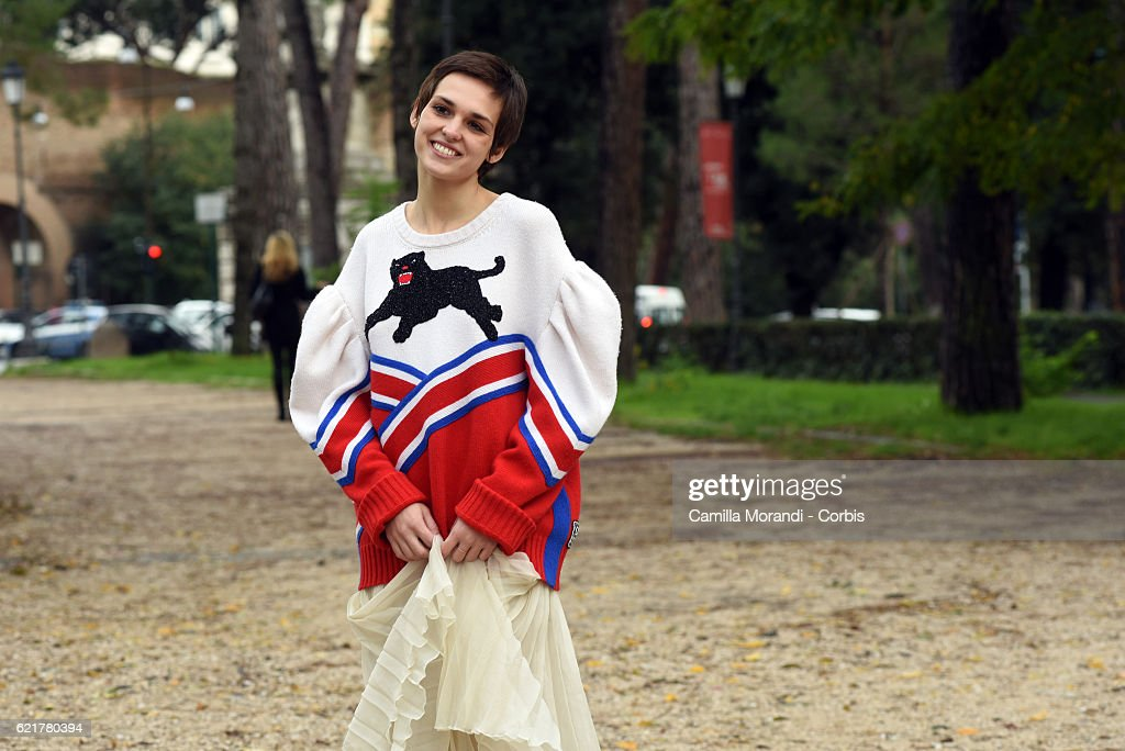 Sara Serraiocco attends a photocall for 'La Ragazza Del Mondo' on November 8, 2016 in Rome, Italy.