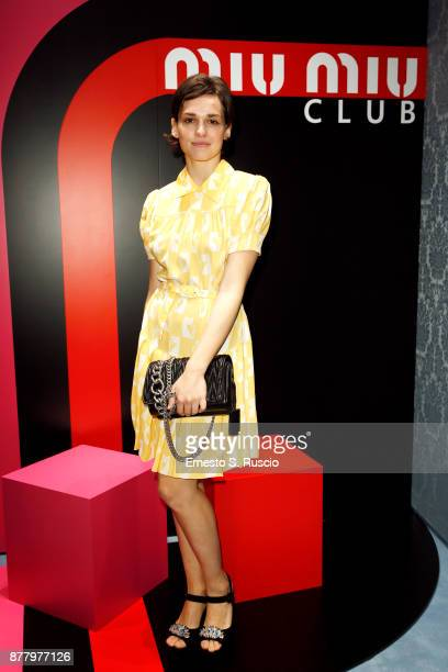 Sara Serraiocco attends Miu Miu Club Rome Cocktail Party on November 23 2017 in Rome Italy
