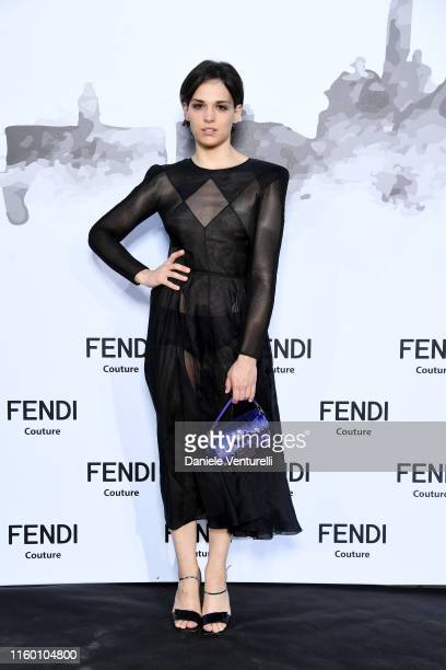 Sara Serraiocco attends the Cocktail at Fendi Couture Fall Winter 2019/2020 on July 04, 2019 in Rome, Italy.
