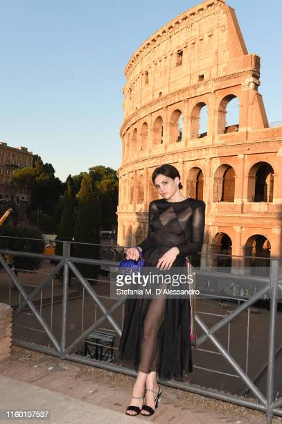 Sara Serraiocco attends the Cocktail at Fendi Couture Fall Winter 2019/2020 on July 04 2019 in Rome Italy